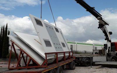 Trasporto e montaggio prefabbricati in cemento e strutture in genere